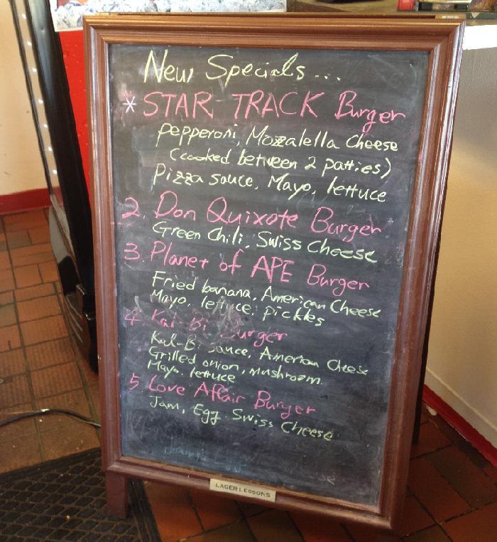 burger time machine menu