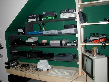 In This Photo You Can See How I Had All My Consoles Hooked Up. Each Of Them  Were Wired To Power And To A System Of Switch Boxes, So I Could Play ...